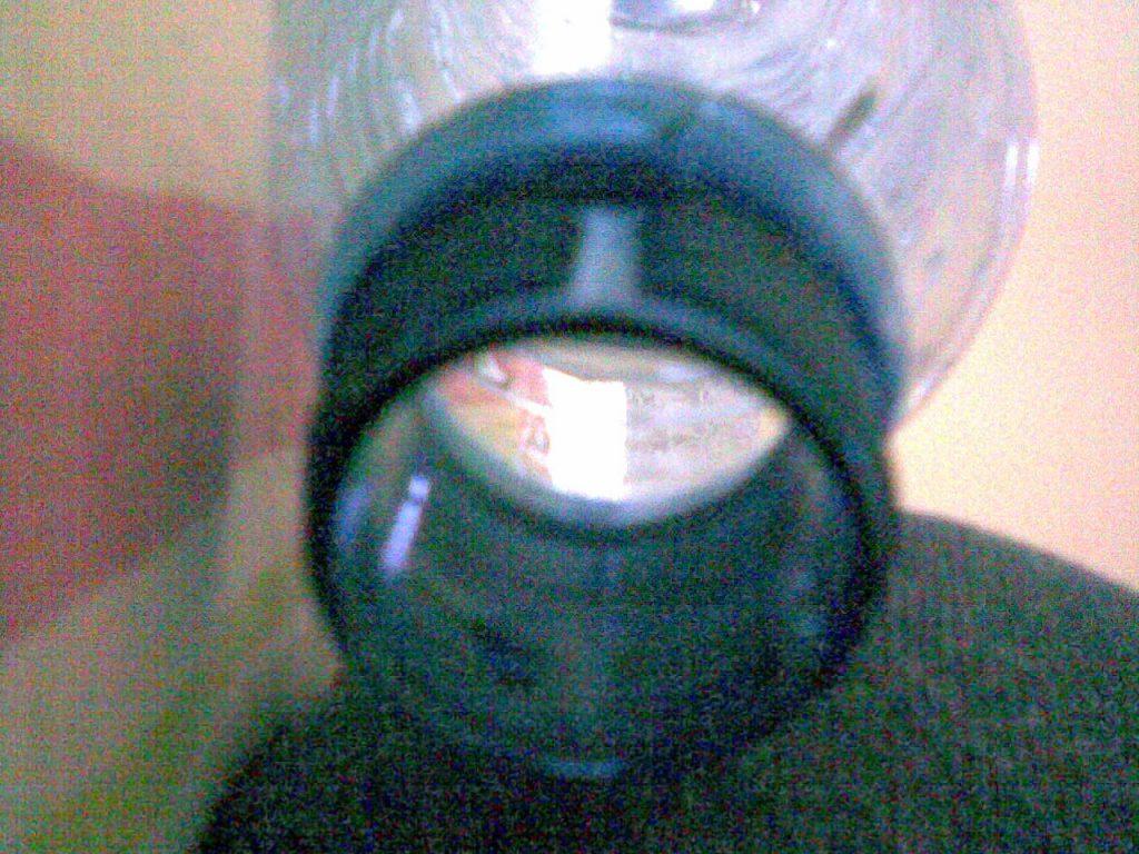Boca de uma garrafa de água